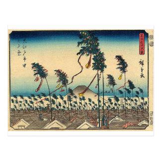Antique Mt. Fuji Painting c. 1800s Japan Postcard