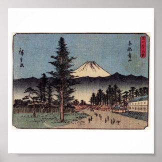 Antique Mt. Fuji Painting c. 1800s Japan Poster