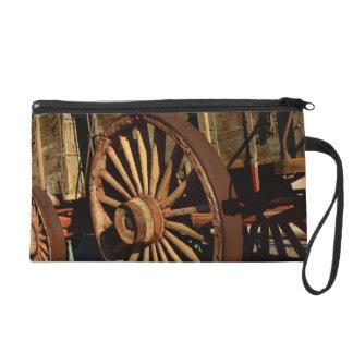 Antique mule train wagon wristlet purse