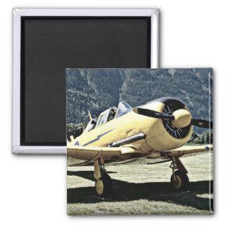 Antique Museum Plane 2 Inch Square Magnet