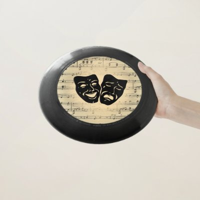 Antique Music and Theater Masks Wham-O Frisbee