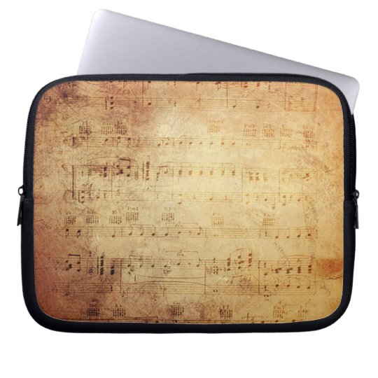 Antique Music Computer Sleeve
