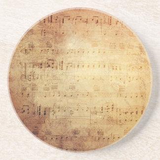 Antique Music Drink Coaster