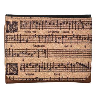 Antique MUSIC LOVER Gregorian Chant Sheet Music Wallet