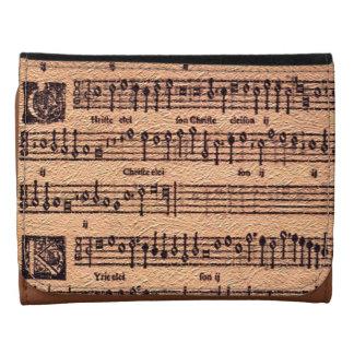 Antique MUSIC LOVER Gregorian Chant Sheet Music Wallets