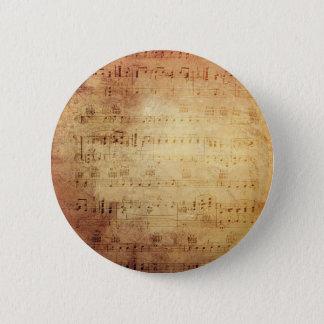 Antique Music Pinback Button