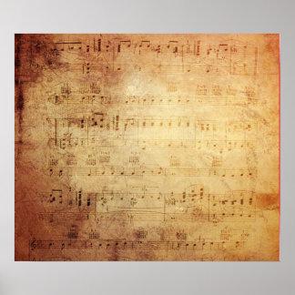 Antique Music Poster