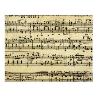 Antique Music score Postcard