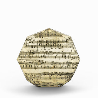 Antique Music Score Sheet Acrylic Award