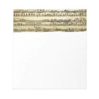 Antique Music Score Sheet Notepad