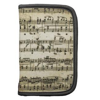 Antique Music Score Sheet Planners