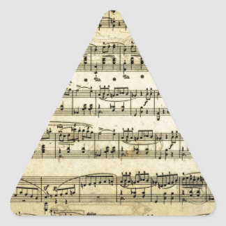 Antique Music Score Sheet Triangle Sticker