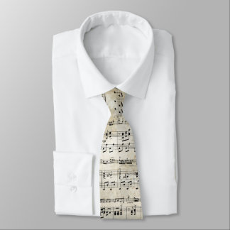 Antique Music Sheet Tie