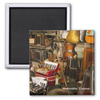 Antique Music Store 2 Inch Square Magnet