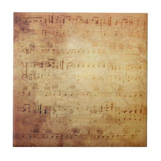 Antique Music Ceramic Tile