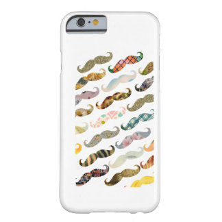 Antique Mustache with Vintage Patterns iPhone 6 ca Barely There iPhone 6 Case