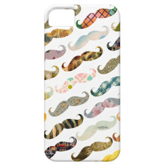 Antique Mustache with Vintage Patterns iPhone Case iPhone 5 Cover