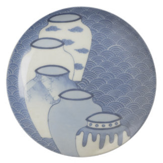 Antique Nabeshima-style ware Japanese Reproduction Plate