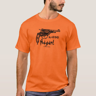 Antique Nagant revolver graphic art t-shirt design
