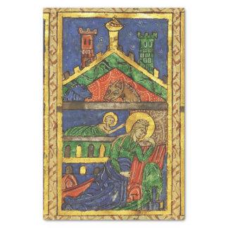ANTIQUE NATIVITY CHRISTMAS PARCHMENT TISSUE PAPER