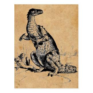 Antique Natural History Dinosaur Iguanodon Print Postcards
