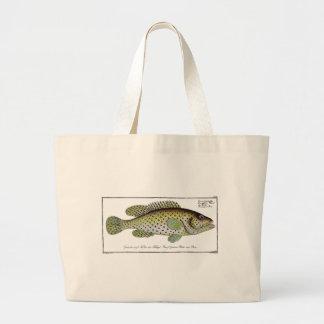 Antique Natural History Fish No. 1Totebag Large Tote Bag
