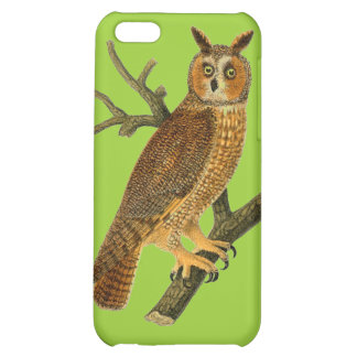 Antique Natural History Owl Illustration Case For iPhone 5C