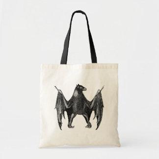 Antique Natural History Print Bat Canvas Bag