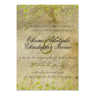 Antique natural invitation 11 cm x 16 cm invitation card