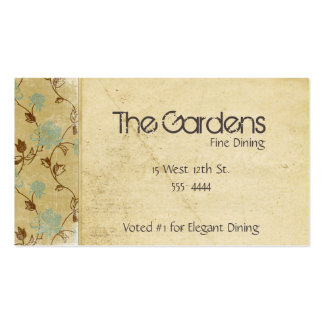 Antique Natural Paper Flowers Business Card Template