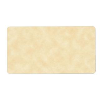 Antique Natural Parchment Background Label