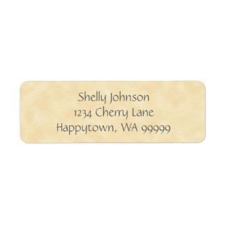 Antique Natural Parchment Return Address Labels
