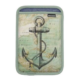 Antique Nautical Map & Anchor iPad Mini Sleeve