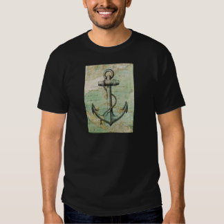 Antique Nautical Map with Anchor Shirt