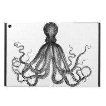 Antique Nautical Steampunk Octopus Vintage Kraken Cover For iPad Air