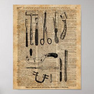 Antique Necropsy Kits,Zombie Apoalypse,Vintage Art Poster