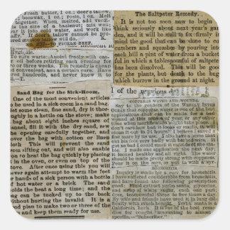 Antique Newspaper Stickers