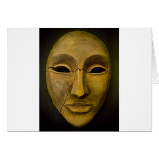 Antique Noh Mask Card