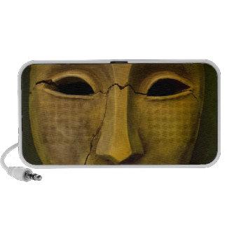 Antique Noh Mask Notebook Speakers