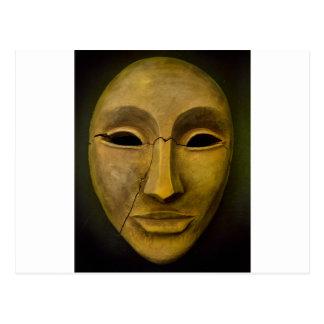 Antique Noh Mask Postcard