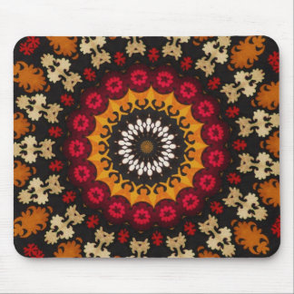 Antique Nomadic tribal  floral textile detail Mousepads