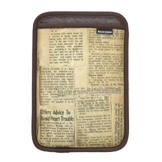 Antique Nursing Newspaper Clippings Scrapbook iPad Mini Sleeve
