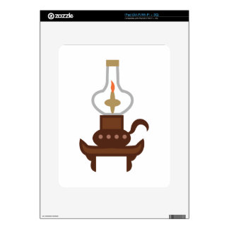 Antique Oil Lamp iPad Decals
