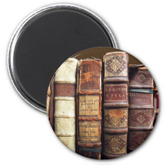 Antique Old Books Vintage Tomes Gift 2 Inch Round Magnet