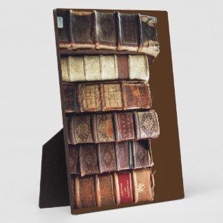 Antique Old Books Vintage Tomes Gift Plaque