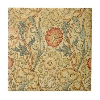 Antique Old Floral Design Ceramic Tile