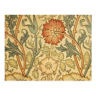 Antique Old Floral Design Postcard