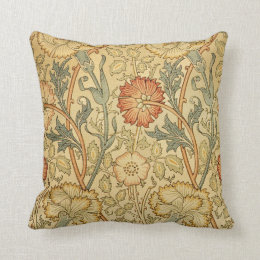 Antique Old Floral Design Throw Pillow