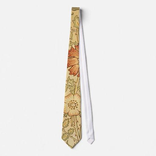 Antique Old Floral Design Tie