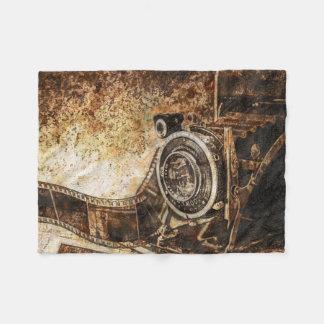Antique Old Photo Camera Fleece Blanket